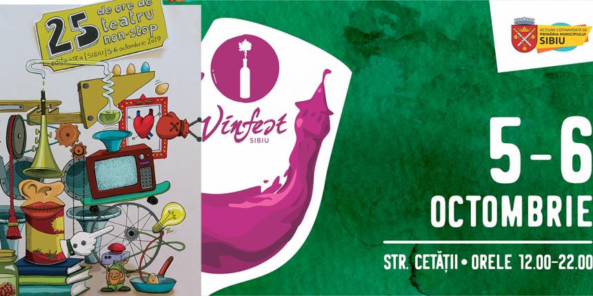 Cazare pensiune Sibiu la Vinfest si 25 de ore de teatru non-stop 2019